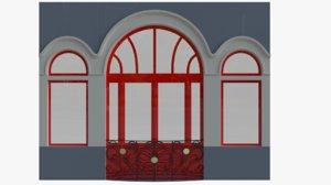 window art nouveau 3D