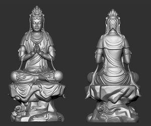 3D model kwanyin bodhisattva