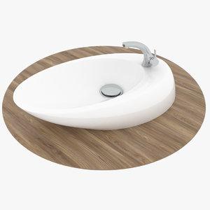 3D sink asymmetrical