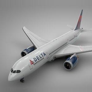 3D boeing 787 dreamliner delta