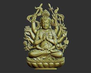 kwanyin bodhisattva thousands 3D
