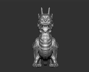 creature monster statue 3D