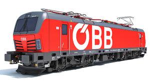 3D model siemens vectron locomotive austrian