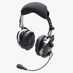 headsets pilots 3D model