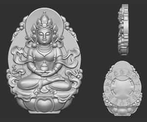 3D kwanyin bodhisattva