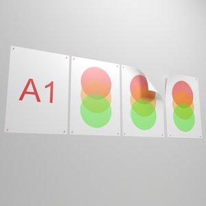 a1 poster 3D model