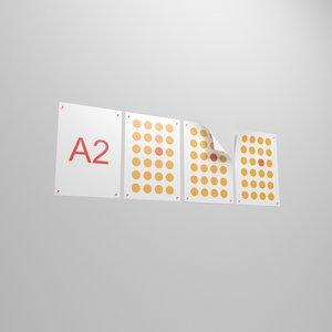 a2 posters 3D model