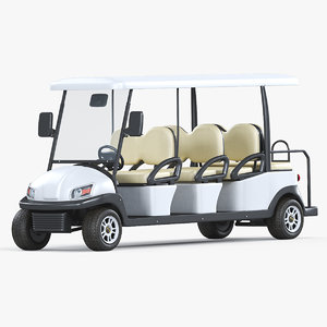 3D electric golf car excar model