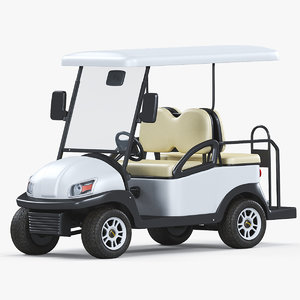 electric golf car excar 3D