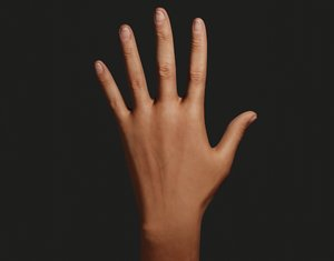 left hand 3D