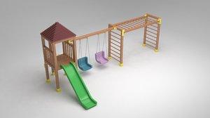 garden playground furniture 3D model