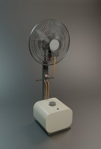 mist fan 3D model