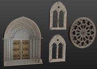 Medieval architecture elements collections