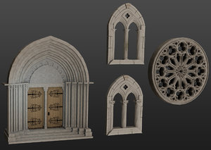 medieval architecture elements collections 3D model