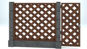 fence door 3D model