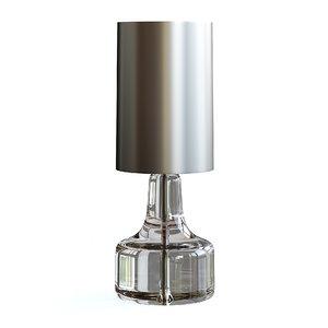 3D lamp glass model