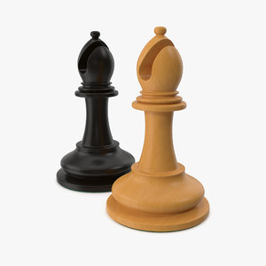 chessmen bishop 3D model