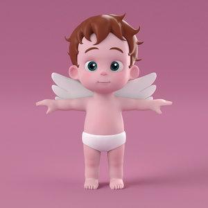 3D model cute cupid