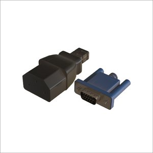 vga power connector 3D model