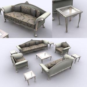 style pakistani sofa 3D model