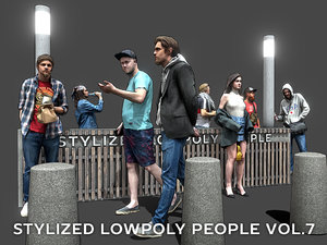 3D model stylized people casual pack