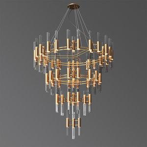 3D waterfall chandelier luxxu