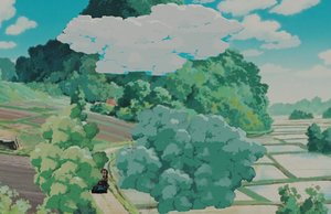clouds ghibli 3D