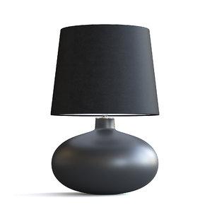 black table lamp 3D model