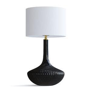 3D model glass table lamp