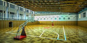 basketball gym model