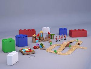 3D toy wood