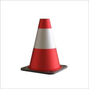 3D traffic cone octane model