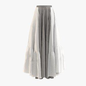 dress skirt model
