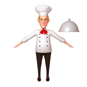 3D chef cartoon 02