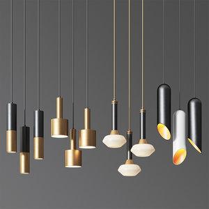 - ceiling light 9 3D