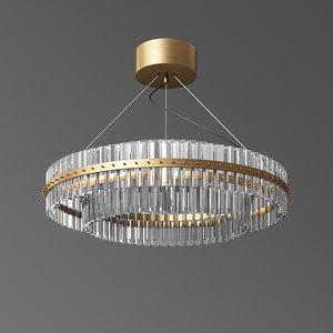 - glass chandelier modern 3D model