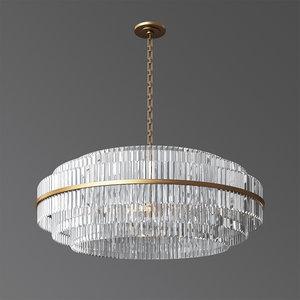 3D model vienna 48 crystal chandelier
