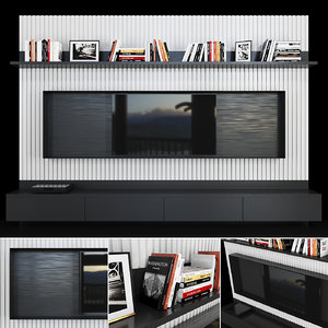 tv decor books 3D