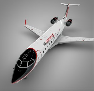air century bombardier crj 3D model