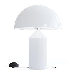 white table lamp 3D model