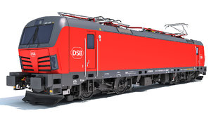 3D siemens vectron danish railways
