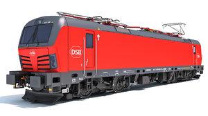 3D siemens vectron danish railways