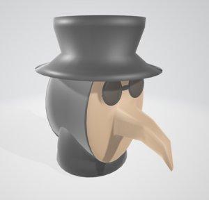 plague doctor mask 3D