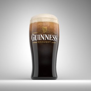 3D beer alcohol model