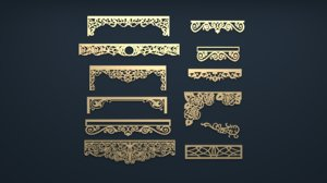 3D model cartouche decor