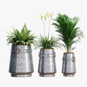 barrel planter 3D model