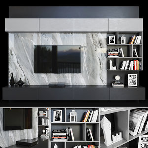 3D tv decor books model