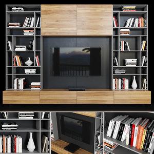 tv decor books model