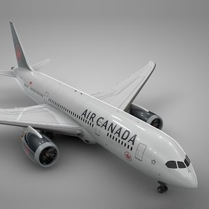 boeing 787 dreamliner air canada 3D model