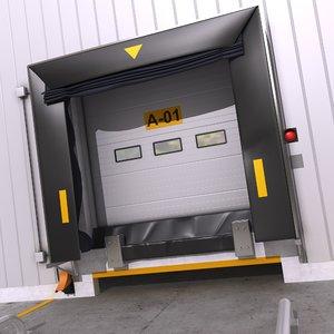 3D model dock shelter 1